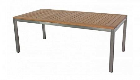 Teak Tisch 100 x 200 cm ausziehbar