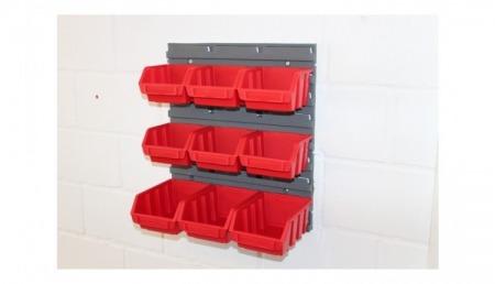 Sichtlagerboxen rot