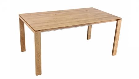 O Holztisch 160 x 90 cm COLUMBIA, Wildeiche, verlängerbar um 90 cm